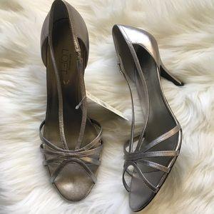 NWT Ann Taylor LOFT Silver Heels